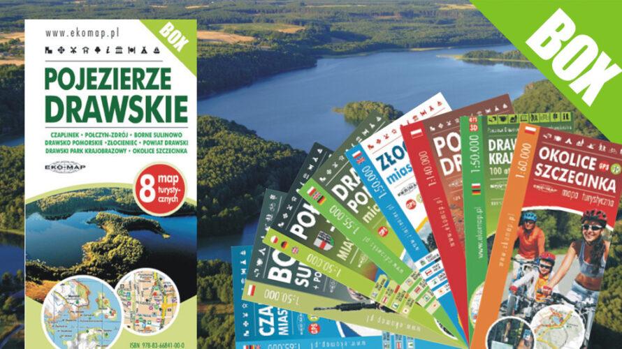 W sprzedaży ukazało się wznowienie dużego zestawu map związanych z Pojezierzem Drawskim.