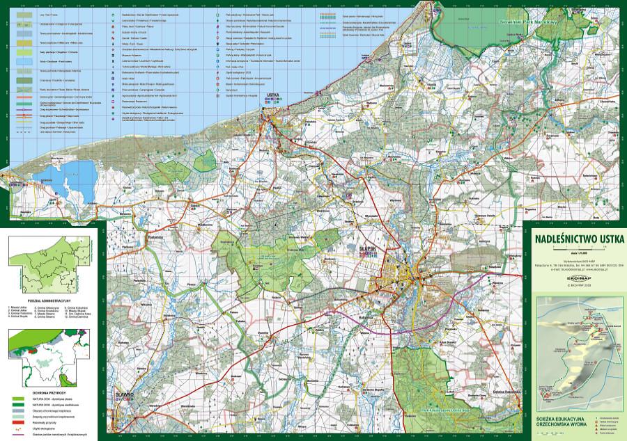 Nadlesnictwo Ustka Mapa Turystyczno Przyrodnicza Wydawnictwo