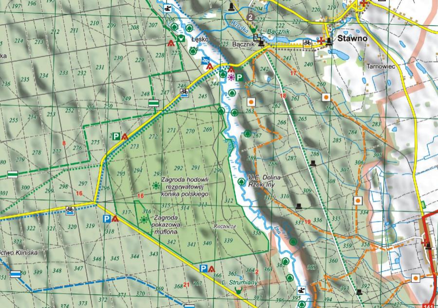 Mapa Turystyczna Puszczy Goleniowskiej Wydawnictwo Eko Map
