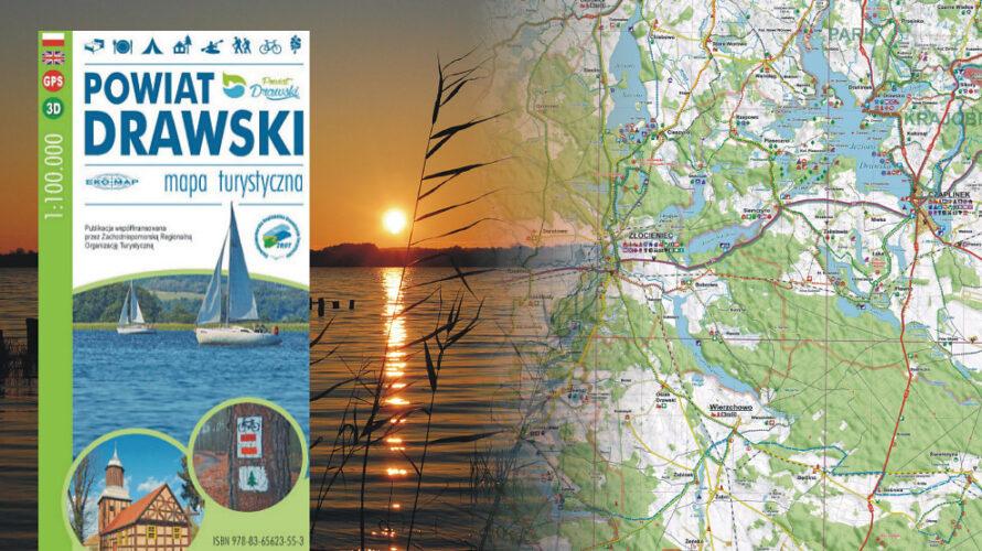 Dostępne jest już wznowienie mapy turystycznej powiatu drawskiego, które powstało przy współpracy ze Starostwem Powiatowym w Drawsku Pomorskim.