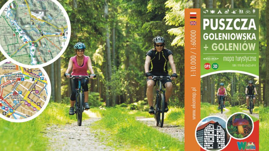 Kolejna nowość w ofercie wydawnictwa EKO-MAP to mapa turystyczna Puszczy Goleniowskiej w skali 1:60.000.