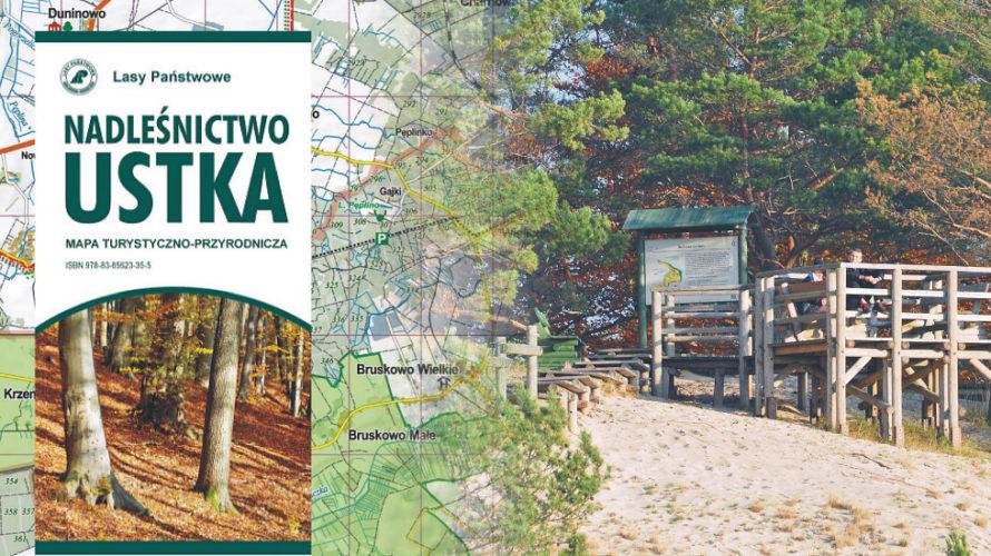 Nasz dział map przyrodniczo-leśnych wzbogacił się o kolejny tytuł. Przy współpracy z Lasami Państwowymi powstała mapa nadleśnictwa Ustka.