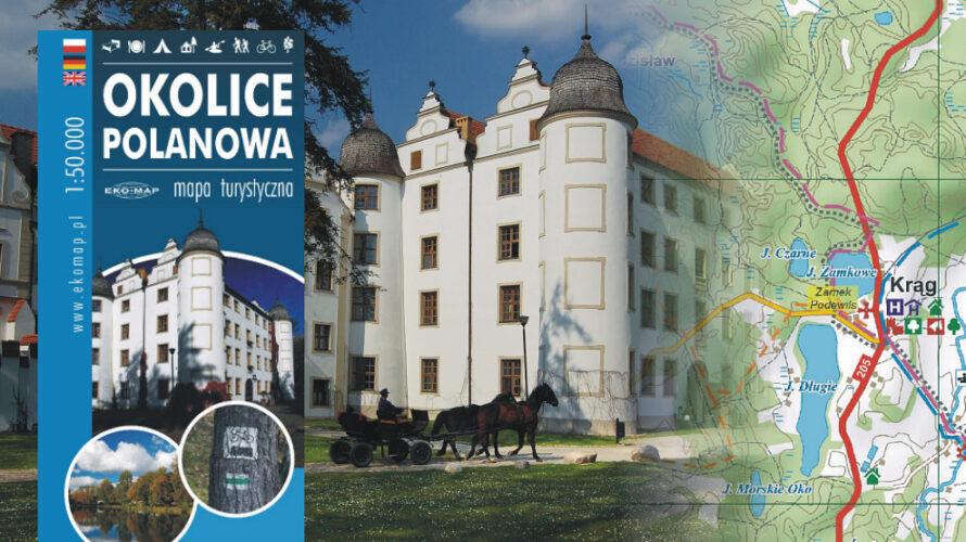 Kolejna nowość wydawnictwa EKO-MAP to mapa gminy Polanów, obejmująca wschodnią część Puszczy Koszalińskiej.