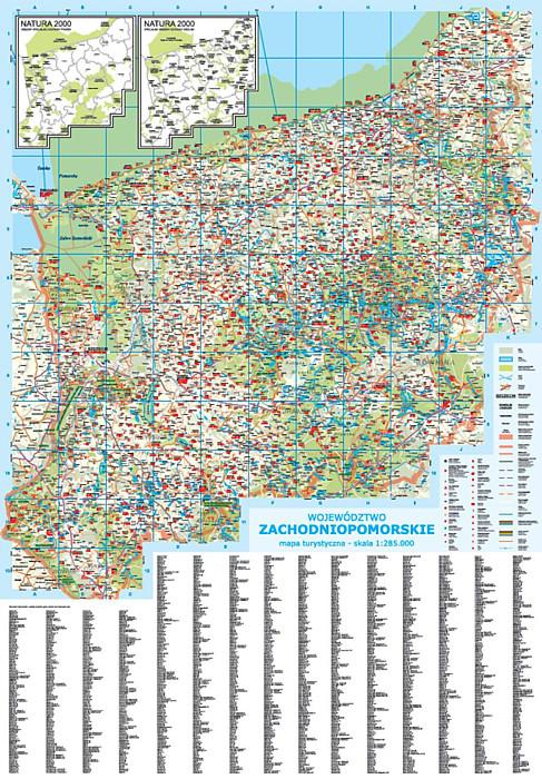 Wojewodztwo Zachodniopomorskie Mapa Scienna Rurki Pcv